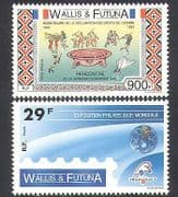 Wallis & Futuna 1989 StampEx  /  Rights  /  Football  /  Diving  /  Volleyball  /  Sport 2v (n37899)