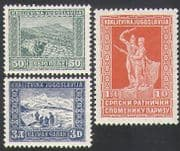 Yugoslavia 1931 Military/ Army/ Soldiers/ War Memorial Fund/ Monument/ Statue 3v set (n34495)