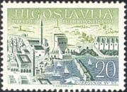 "Yugoslavia 1959 ""JUFIZ IV"" Stamp Exhibition/ StampEx/ Boats/ City/ Transport/ Buildings/ Architecture 1v (n26878)"
