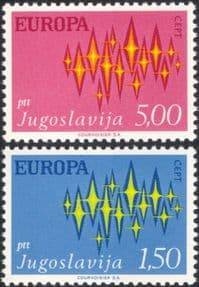 Yugoslavia 1972 Europa/ CEPT/ Communications/ Animation 2v set (n44970)
