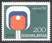 Yugoslavia 1973 Table Tennis  /  Sports  /  Animation  /  Competition 1v (n33996)