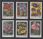 Yugoslavia 1975 Flowers  /  Plants  /  Nature 6v set (n21434)