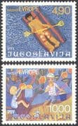 Yugoslavia 1977 Children/ Art/ Europe/ Fruit/ Holidays/ Leisure 2v set (n26880)