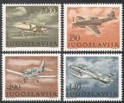 Yugoslavia 1978 Planes  /  Aircraft  /  Military  /  Aviation  /  Transport 4v set (n21711)