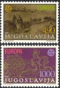 Yugoslavia 1979 Europa/ Horses/ Transport/ Art/ Paintings/ Artists 2v set (n31048)
