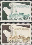 Yugoslavia 1980 Dove/ Security Conference/ Hall/ Buildings/ Birds 2v set (n21705)