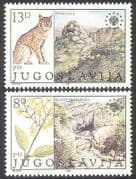 Yugoslavia 1981 Lynx  /  Flowers  /  Nature  /  Wildlife  /  Animals  /  Plants  /  Parks 2v set n40653