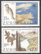 Yugoslavia 1982 Monk Seal  /  Fir Trees  /  Nature Conservation  /  National Parks 2v n40651
