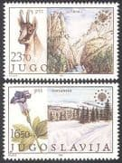 Yugoslavia 1983 Chamois Deer  /  Flowers  /  Nature Protection  /  Parks  /  Animals 2v (n40655)