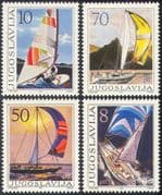 Yugoslavia 1985 Sailing/ Yachts/ Boats/ Racing/ Sports/ Transport 4v set (n42442)