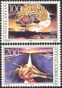 Yugoslavia 1986 Europa/ Road Safety/ Brain/ Nuclear/ Atom Bomb/ Deer 2v set (n25679)