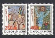Yugoslavia 1987 Europe  /  Art  /  Children  /  Paintings 2v set (n34025)
