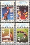 Yugoslavia 1988 Sports/ Olympic Games/ Basketball /Boxing/ Gymnastics/ Athletics/ Olympics 4v set (n42450)