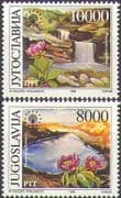 Yugoslavia 1989 Nature Protection/ Waterfall/ Flowers/ Lake/ Mountain/ Conservation  2v set  n25946