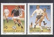 Yugoslavia 1990 Football  /  Sports  /  Games  /  World Cup  /  WC  /  Soccer 2v set (n37758)