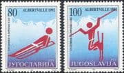 Yugoslavia 1992 Winter Olympic Games/ Olympics/ Sport/ Skiing/ Luge 2v set (n21364)