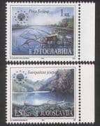 Yugoslavia 1994 Fishing  /  Lake  /  River  /  Trees  /  Conservation  /  Nature 2v set (n21217)