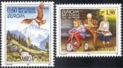 Yugoslavia 1995 Europa/ Peace & Freedom/ Eagle/ Bike/ Child/ Toys/ Elderly/ Birds 2v set (n19780)