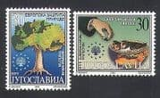 Yugoslavia 2000 Environment Protection  /  Tree  /  Birds  /  Nature  /  Plants 2v set (n33986)