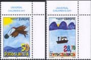 Yugoslavia 2002 Europe/ Children's Day/ Boat/ Lake/ Bird/ Paintings 2v set (s1974)