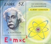 Zaire 1980 Einstein/ Science/ Scientists/ People/ Space/ Mathematics/ Nobel Prize  1v m/s (b7500n)