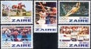 Zaire 1996 Olympic Games/ Sports/ Basketball/ Boxing/ Table Tennis/ Horse Jumping  5v set (n15019j)
