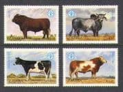 Zambia 1987 FAO  /  Cattle  /  Cows  /  Farming  /  Animals  /  Nature  /  Food  /  Hunger 4v set (n20884)