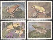 Zambia 1989 Frogs/ Toads/ Animals/ Amphibians/ Nature/ Wildlife/ Conservation 4v set (b4818)