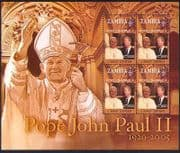 Zambia 2005 Pope John Paul II  /  People  /  Religion  /  President Carter 4v m  /  s (n35010)