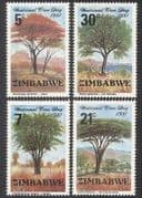 Zimbabwe 1981 Trees  /  Nature  /  Plants  /  Environment 4v set (n18998)