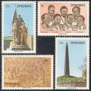 Zimbabwe 1984 Heroes Day  /  People  /  Statues 4v set (n30166)