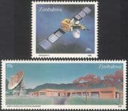 Zimbabwe 1985 Space/ Satellite/ Radio/ Communications/ Telecomms 2v set (n23056)