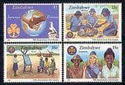 Zimbabwe 1987 Girl Guides  /  Fire  /  Youth  /  Leisure 4v n30159