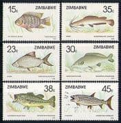 Zimbabwe 1989 Fish  /  Nature  /  Marine  /  Wildlife 6v set n31083