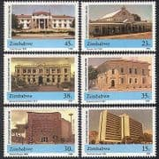 Zimbabwe 1990 Harare  /  Court  /  Bank  /  Buildings  /  Architecture 6v set (n40228)