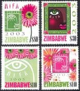 Zimbabwe 2003 Arts Festival/ Flowers/ Plants/ Design /Animation 4v set (n23932)