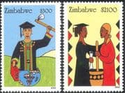 Zimbabwe 2003 Empowerment of Women/ Education/ People/ Animation 2v set (n23934)