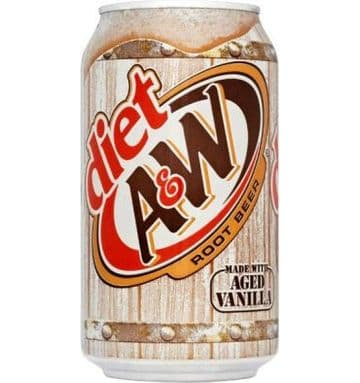 A&W Root Beer Diet 355ml (US)