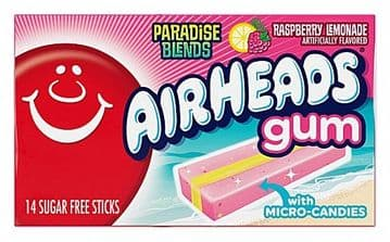 Airheads Gum - Paradise Blends Raspberry Lemonade - 1.185oz (34g) ( US )
