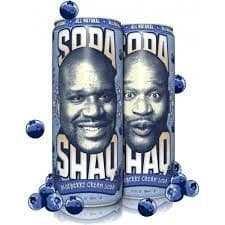 Arizona Shaq Blueberry Cream Soda 23.5oz Big Can (US)