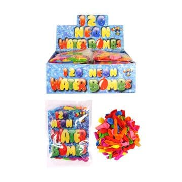 Assorted Neon Waterbombs pack 120