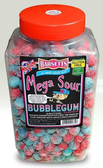 Barnetts Mega Sour Bubblegum 100g (UK)