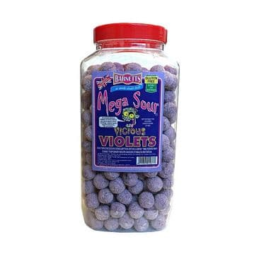 Barnetts Mega Sour Vicious Violets 100g (UK)