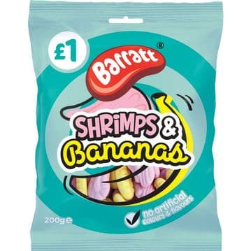 Barratt Shrimps & Bananas Bag 200g ( UK )