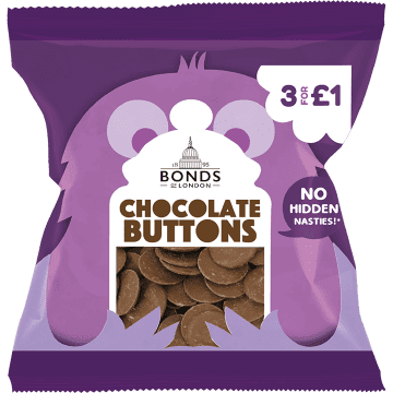 Bonds Chocolate Buttons 45g packet (UK)
