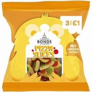 Bonds Pizza Slices 50g Packet ( UK )