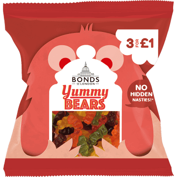Bonds Yummy Bears 50g packet (UK)