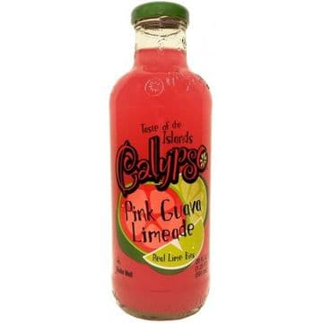 Calypso - Pink Guava Limeade16oz (473ml) Glass Bottles (US)