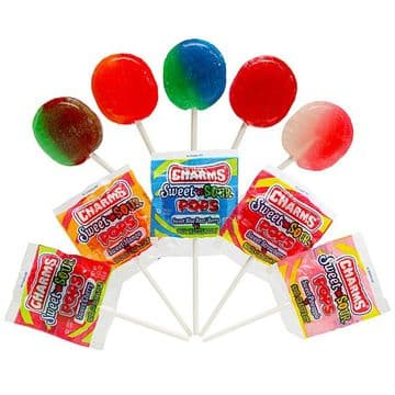 Charms Sweet N Sour Pops  (US)