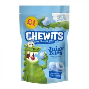 Chewits Blue Raspberry Juicy Bites £1 PMP 145g ( UK )